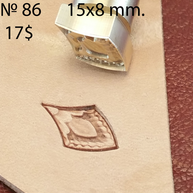 Tool for leather craft. Stamp 86. Scale. Size 8x15 mm
