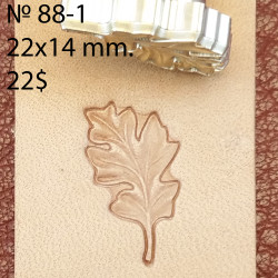 Tool for leather craft. Stamp 88-1. Size 14x22 mm