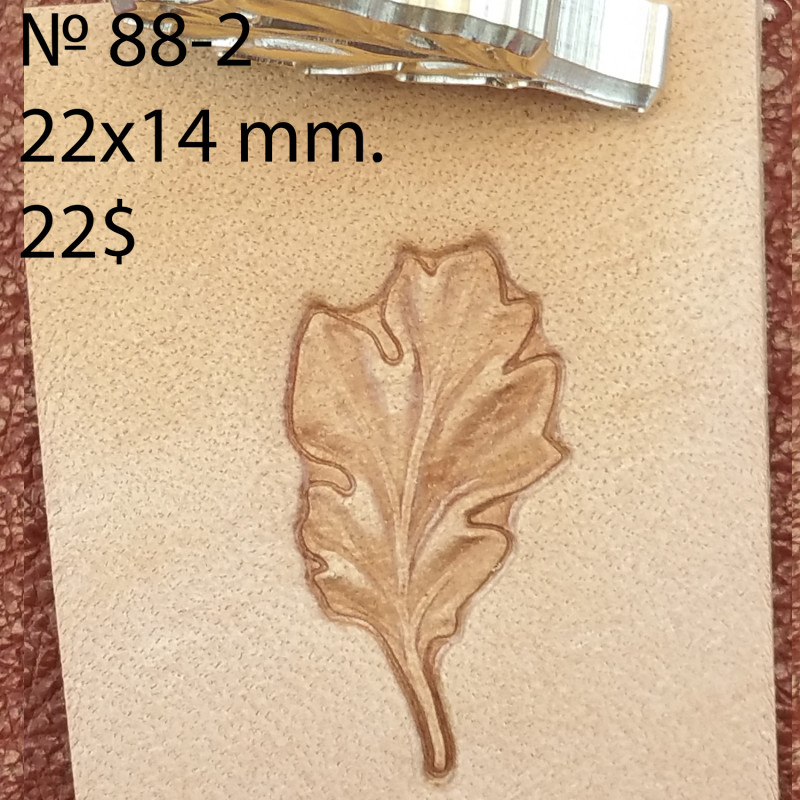 Tool for leather craft. Stamp 88-2. Size 14x22 mm