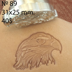 Tool for leather craft. Stamp 89. A Eagle. Size 23x33 mm