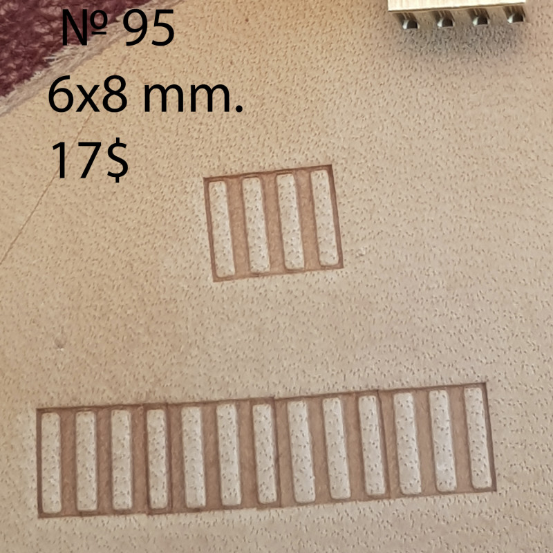 Tool for leather craft. Stamp 95. Size 6x8 mm