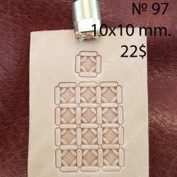 Tool for leather craft. Stamp 97. Size 10x10 mm