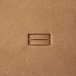 Tool for leather craft. Stamp 323. Size 6x12 mm