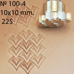Tool for leather craft. Stamp 100B-4. 4 iron scales. Size of one scale 10x10 mm