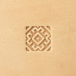 Tool for leather craft. Stamp 340. Size 12x12 mm