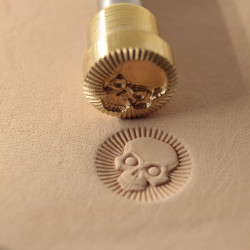 Tool for leather craft. Stamp 373. Size 13x13 mm