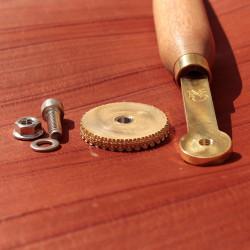 Book Binding Brass Wheel Handle