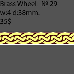 Book Binding Brass Wheel BW29 w-4mm, d-38mm