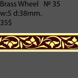 Book Binding Brass Wheel BW35 w-5mm, d-38mm
