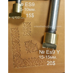 Tool for leather craft. Stamp ES9Y -angular stamp for stamp ES9. Size 15x15 mm