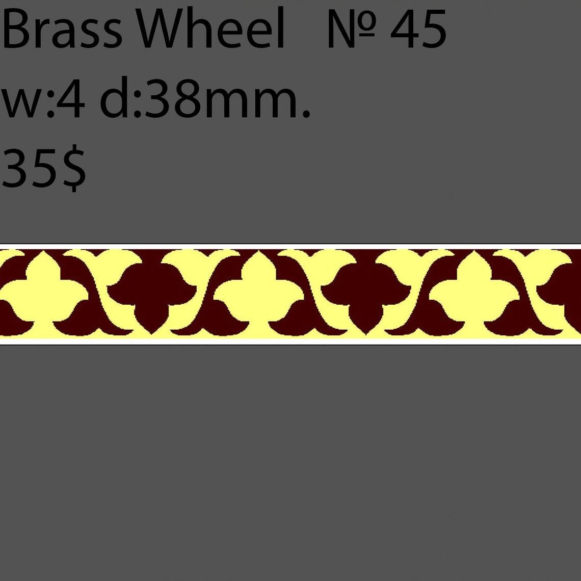 Book Binding Brass Wheel #BW5