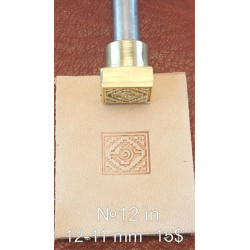 Tool for leather craft. Stamp IN12. Indian series. Size 11x12 mm