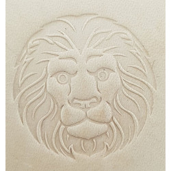 Tool for leather craft. Zodiac series. 5. Lion. 30 mm