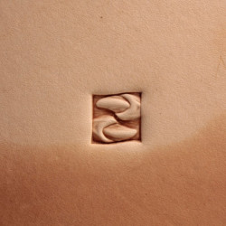 Tool for leather craft. Stamp 407. Size 10x10 mm