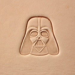 Tool for leather craft. Stamp 416 Darth Vader. Size 19x19 mm