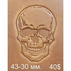 Tool for leather craft. Skull Big. Size 30x43 mm