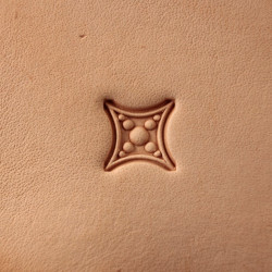 Tool for leather craft. Stamp 417. Size 10x10 mm