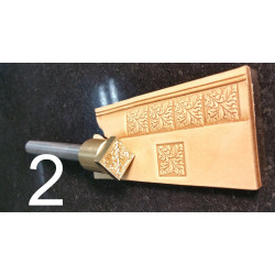 Tool for leather craft. Stamp 2. Size 15x15 mm