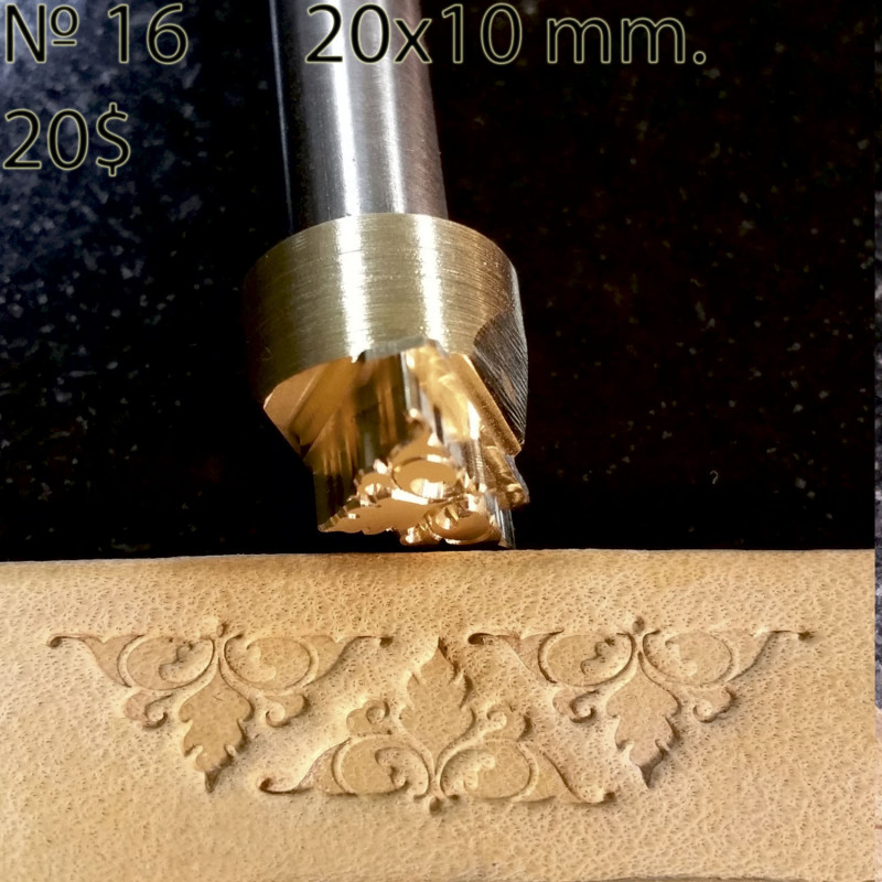 Tool for leather craft. Stamp 16. Size 10x17 mm
