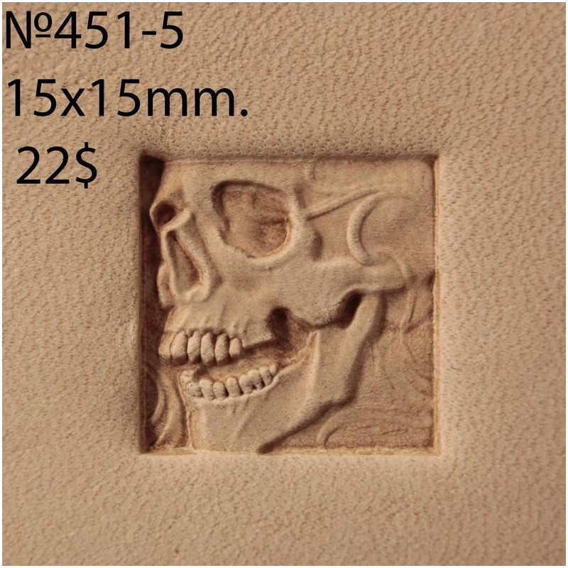 Tool for leather craft. Stamp 451-5. Size 15x15 mm