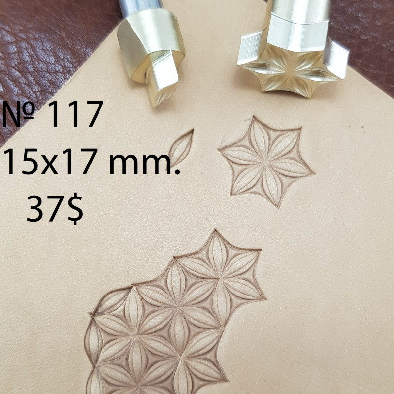 Tools for leather craft. Kit 117. Size 15x17 mm