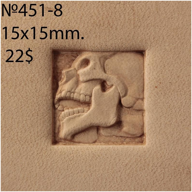 Tool for leather craft. Stamp 451-8. Size 15x15 mm
