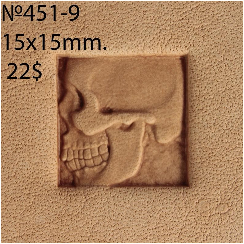 Tool for leather craft. Stamp 451-9. Size 15x15 mm
