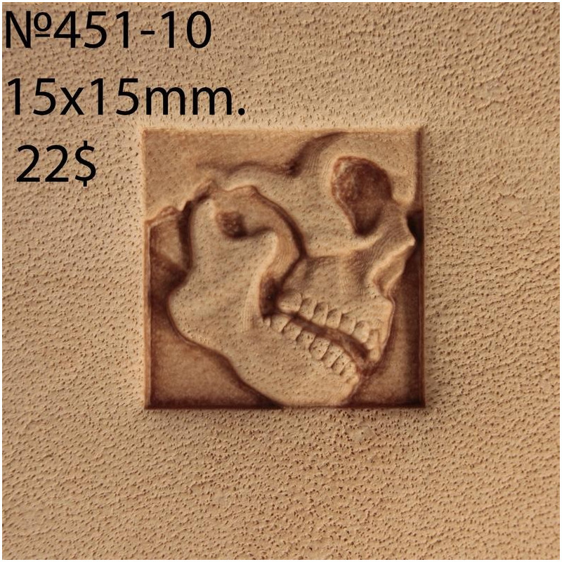 Tool for leather craft. Stamp 451-10. Size 15x15 mm