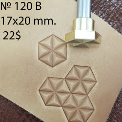 Tool for leather craft. Stamp 120B. Size 17х20 mm