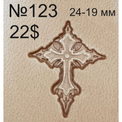 Tool for leather craft. Stamp 123. Size 19х24 mm