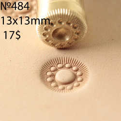 Tool for leather craft. Stamp 484. Size 13x13 mm