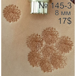 Tool for leather craft. Stamp 145-3. Size 8 mm