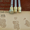 Tools for leather craft. Kit 21 - 3 background stamps. Sizes: 10x10, 6x6, 3x6 mm