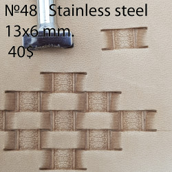 Tool for leather craft. Stamp 48. Stainless steel. Size 6x13 mm