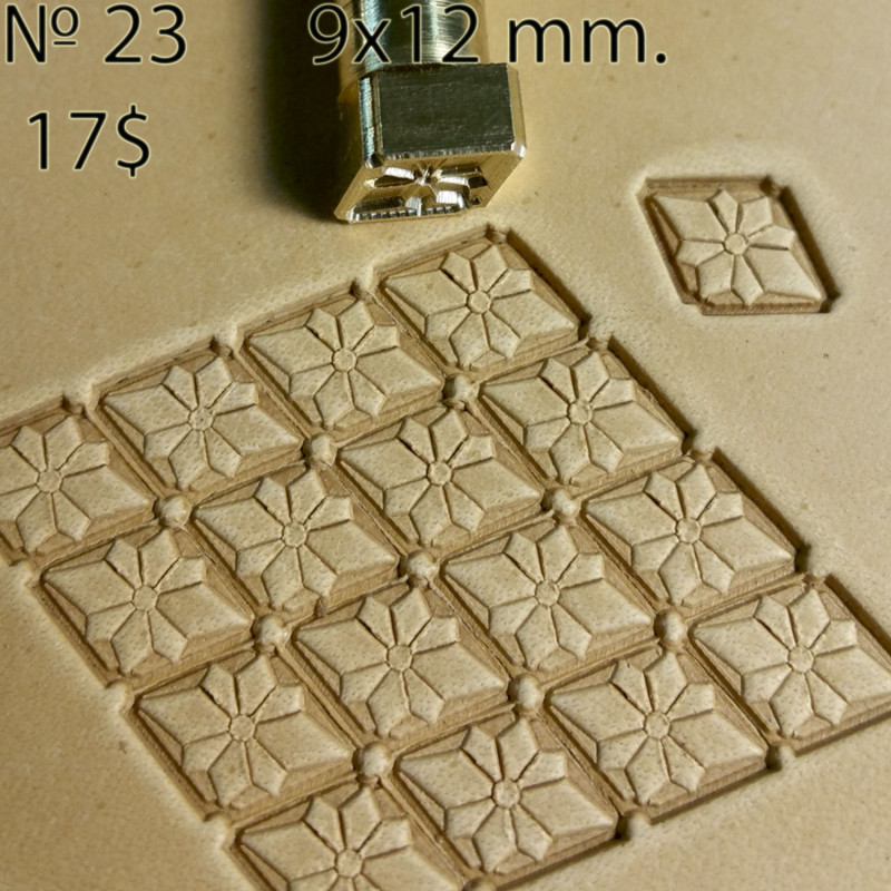 Tool for leather craft. Stamp 23. Size 9x12 mm