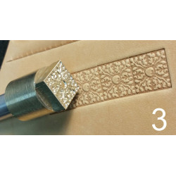 Tool for leather craft. Stamp 3. Size 13x13 mm