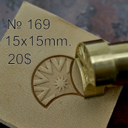 Tool for leather craft. Stamp 169. Size 15x15 mm (design by Gregory Belenky)