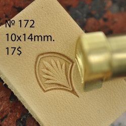 Tool for leather craft. Stamp 172. Size 10x14 mm (design by Gregory Belenky)