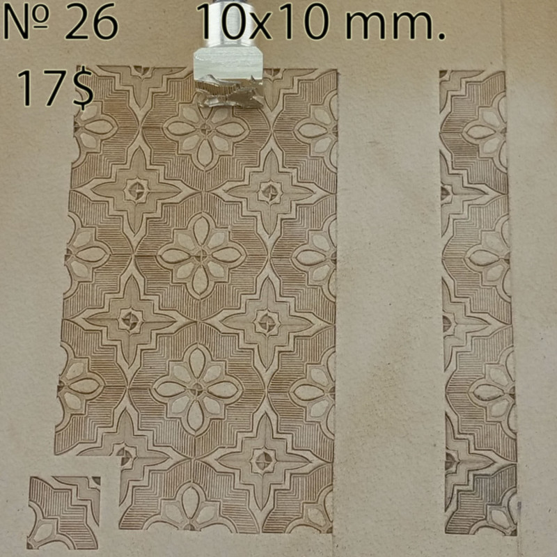 Tool for leather craft. Stamp 26. Size 10x10 mm
