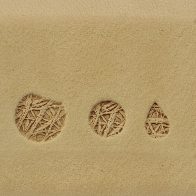 Tools for leather craft. Kit 175 - 3 stamps. Sizes: 10mm, 7 mm, 4x7 mm