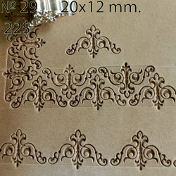 Tool for leather craft. Stamp 29. Size 12x20 mm