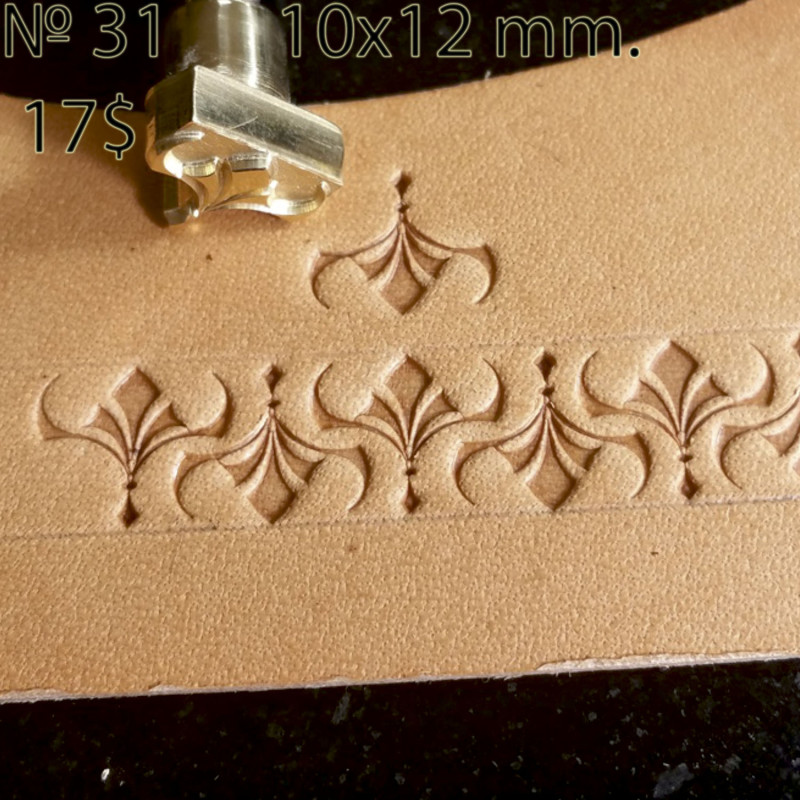 Tool for leather craft. Stamp 31. Size 10x12 mm