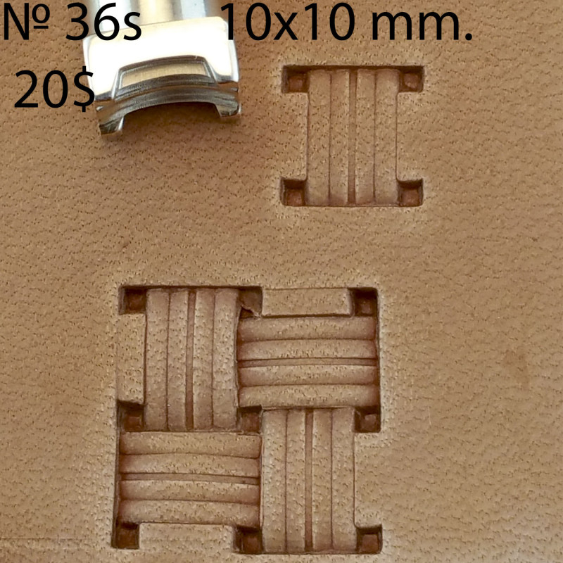 Tool for leather craft. Stamp 36s. Size 10x10 mm