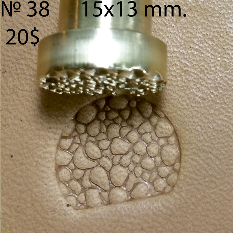 Tool for leather craft. Stamp 38. Size 13x15 mm