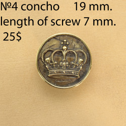 Concho Belt DIY Leatherworking. Size 19 mm. Concho 4