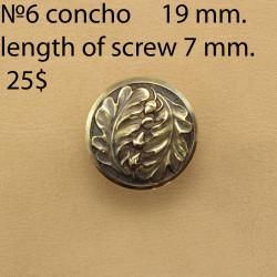 Concho Belt DIY Leatherworking. Size 19 mm. Concho 6