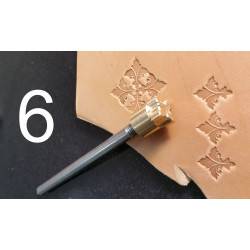 Tool for leather craft. Stamp 6. Size 13x14 mm