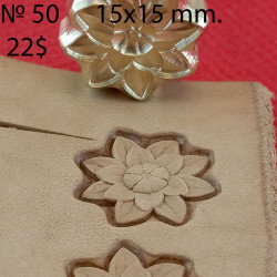 Tool for leather craft. Stamp 50. Size 15x15 mm
