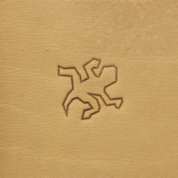 Tool for leather craft. Stamp 216 - Salamander. Size 19x20 mm