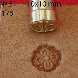 Tool for leather craft. Stamp 51. Size 10x10 mm
